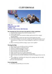 English Worksheets: Film: Up with activity