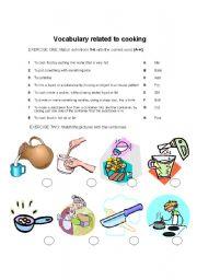 English Worksheet: Cooking vocabulary
