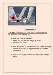 English Worksheets: Creative writng