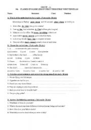 English Worksheets: exam questions for 9th grades group b