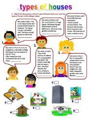English Worksheet: types of houses (11.04.10)