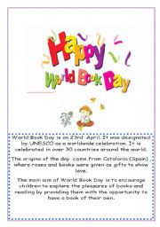English Worksheet: world book day