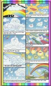English Worksheets: THE BEAUTIFUL RAINBOW with key
