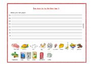 English worksheet: How Much Do You Eat Each Year ?!