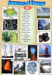 English Worksheet: Energy
