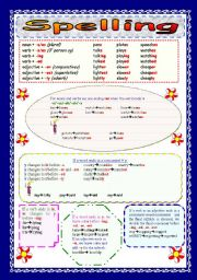 English Worksheet: Spelling