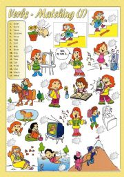 English Worksheets: VERBS - Matching(1)