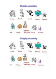 english worksheets shopping vocabulary. Black Bedroom Furniture Sets. Home Design Ideas