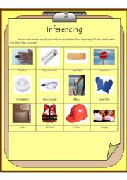 English Worksheets: Inferencing to prevent problems