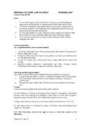 English Worksheet: British culture