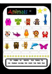 English Worksheets: Animals maching