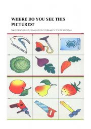 English Worksheets: Find the pictures