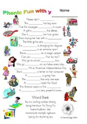 Printables Dialogue Worksheets english teaching worksheets dialogues 3 magic pages of phonic fun with y worksheet dialogue and