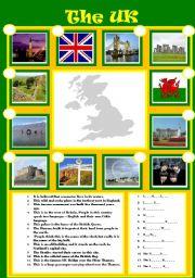 English Worksheet: The UK