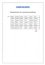 English Worksheet: Simple Past  - PRONUNCIATION GAME!