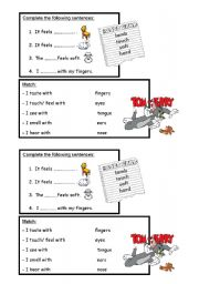 English Worksheets: 5senses