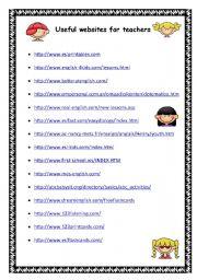 English Worksheets: Uploaded Websites suggestions for teachers