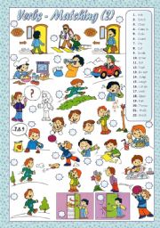 English Worksheets: VERBS - Matching(2)