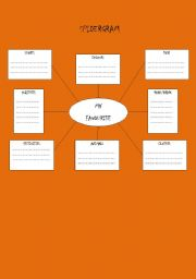 English Worksheets: spidergram