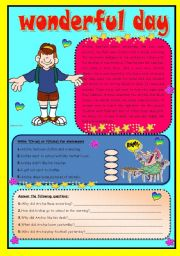 English Worksheets: Wonderful day