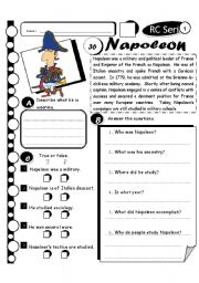 English Worksheets: RC Series Level 1_36 Napoleon (Fully Editable + Answer Key)