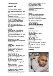 chris brown lyrics