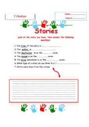 English worksheet: stories