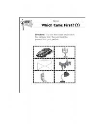 English Worksheets: Which came first