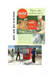 English Worksheet: coca-cola now and then