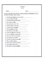 english teaching worksheets adverbs. Black Bedroom Furniture Sets. Home Design Ideas