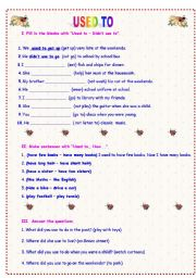 Grammar worksheets > Expressions > Past habits: used to > Used to ...