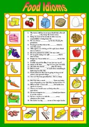 Worksheets Worksheet Idioms Food english teaching worksheets food idioms idioms