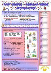 English Worksheet: Past Simple (1/5) - Regular Verbs