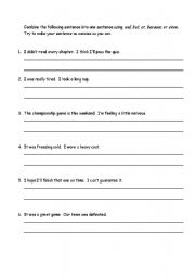 Printables Compound Sentences Worksheet english teaching worksheets compound sentences coordinating causal conjunctions
