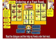 English Worksheet: Ordering at a fast food