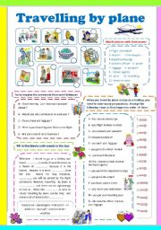English Worksheet: Travelling by plane