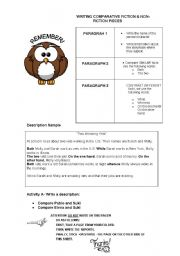 English Worksheets: WRITING SAMPLE: COMPARING FICTIONAL CHARACTERS