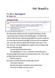 English Worksheet: to kill a mocking bird