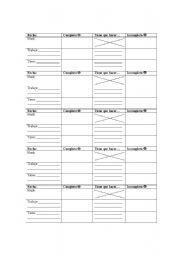 English Worksheets: Stamp Sheet