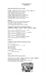 English worksheet: SONG -DOESN´T REMIND ME -AUDIOSLAVE