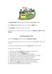 English Worksheets: Business Grammar Auction