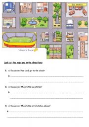 giving directions esl worksheet by marykenel. Black Bedroom Furniture Sets. Home Design Ideas