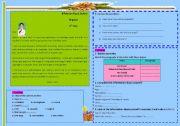 English Worksheets: Reading+writing