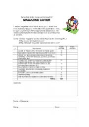 English Worksheets: DTP Magazine Cover