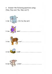 English Worksheets: Answer the following questions:
