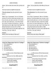 English Worksheets: asking for and giving information