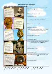 English Worksheet: The animals save the planet