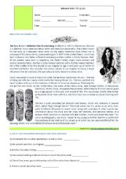 English Worksheets: Kat von D�s artwork