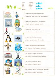English Worksheets: Relatives  WHO  WHICH  WHERE
