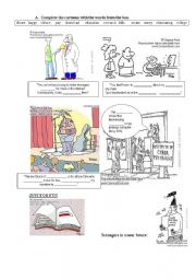 English Worksheets: Cartoons about downloading